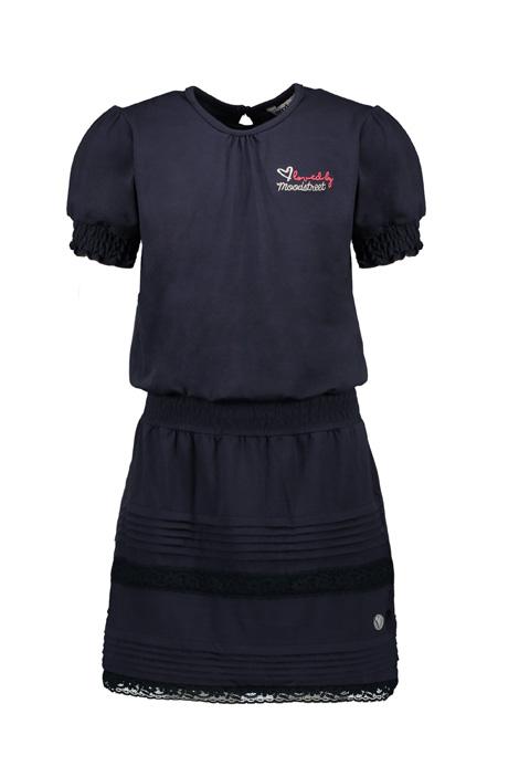 Moodstreet meiden jurk donkerblauw