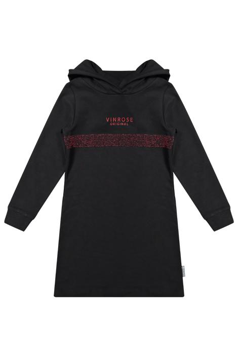 Vinrose meiden sweaterjurk