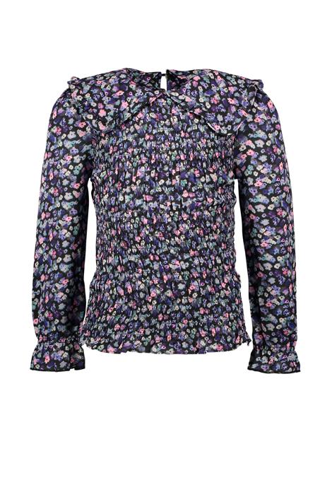 B.Nosy meiden geweven blouse bloemen